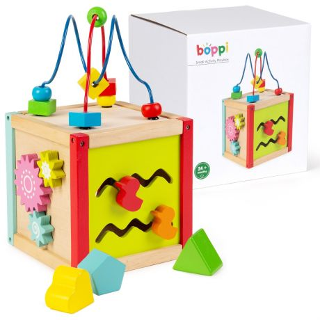boppi Small Wooden Activity Cube