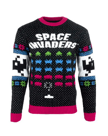 Space Invaders Christmas Jumper / Ugly Sweater - UK L / US M