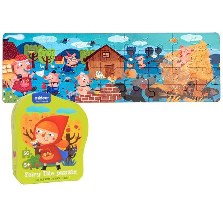 Mideer 36 Piece Kid's Jigsaw Puzzle - Little Red Riding Hood Fairy Tale