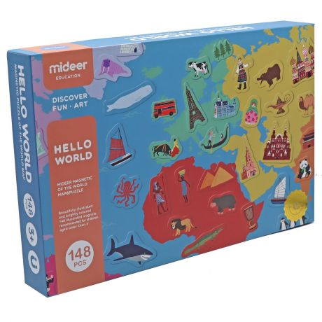 Mideer - Magnetic Map of the World