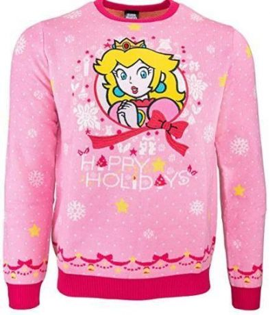 Nintendo Princess Peach Christmas Jumper / Ugly Sweater UK XL / US L