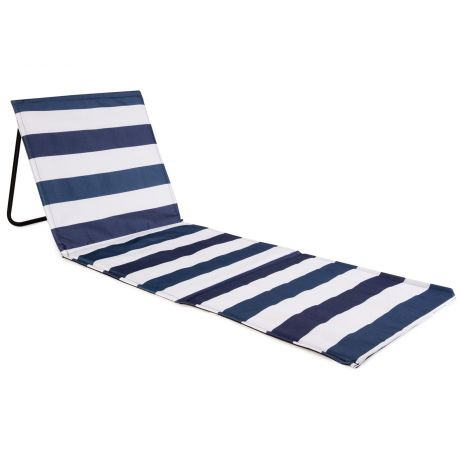 just be... Beach Mat Recliner - Blue and White Stripes