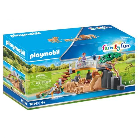 Playmobil Zoo Animal Outdoor Lion Enclosure - Family Fun 70343