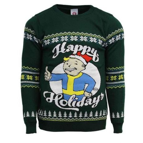 Fallout Happy Holidays Christmas Jumper / Ugly Sweater - UK XS / US 2XS