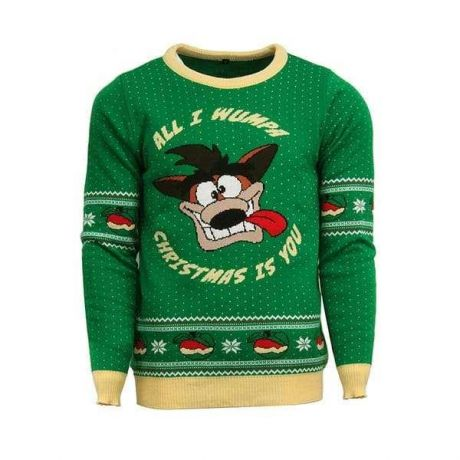 Official Crash Bandicoot Christmas Jumper / Ugly Sweater - UK L / US M