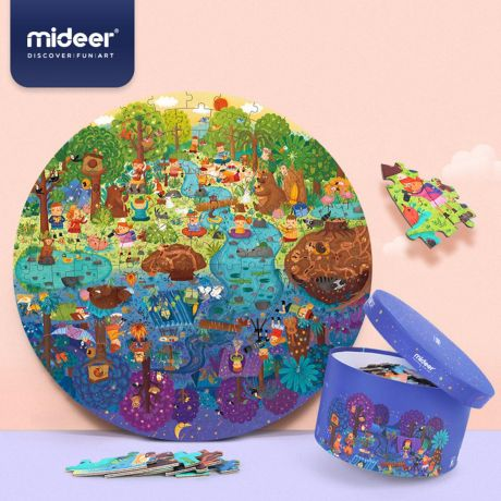 Mideer 150 Piece Jigsaw Puzzle - A Day in the Forest
