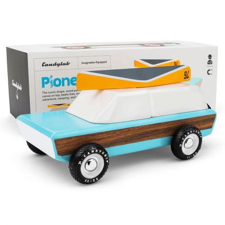 Candylab – Pioneer Classic Adventure Touring Vehicle with Yellow Canoe - with box