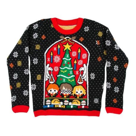 Harry Potter Great Hall Kids Christmas Jumper / Ugly Sweater - Kids UK Age 7-8