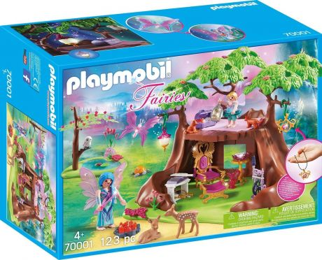 Playmobil 70001 Fairies - Fairy Forest House with 7 Animals