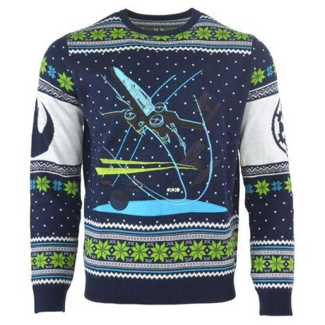 Star Wars X-Wing: Battle of Yavin Christmas Jumper / Ugly Sweater UK XL / US L