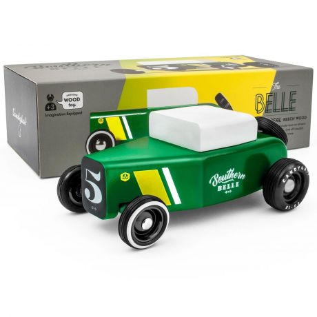 Candylab Outlaw – Southern Belle Low Ride Roadster Green and Yellow - with box