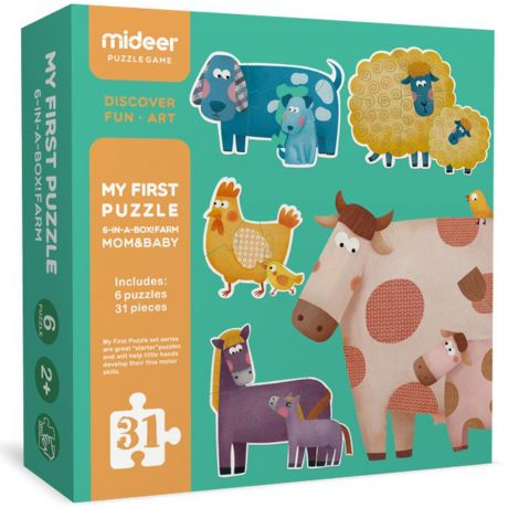 Mideer 31 Piece My First Puzzle Jigsaw - Mom & Baby