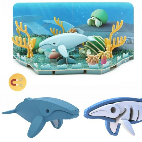 Halftoys Magnetic 3D Ocean Jigsaw Puzzle - Humpback Whale