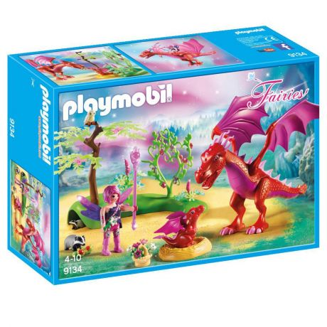 Playmobil 9134 Fairies - Friendly Dragon with Baby