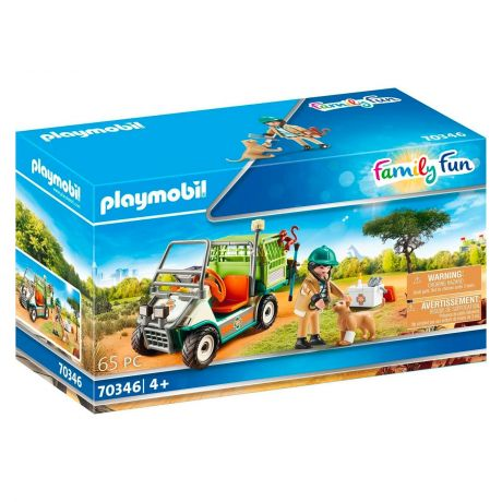 Playmobil 70346 Family Fun -  Zoo Vet with Medical Cart