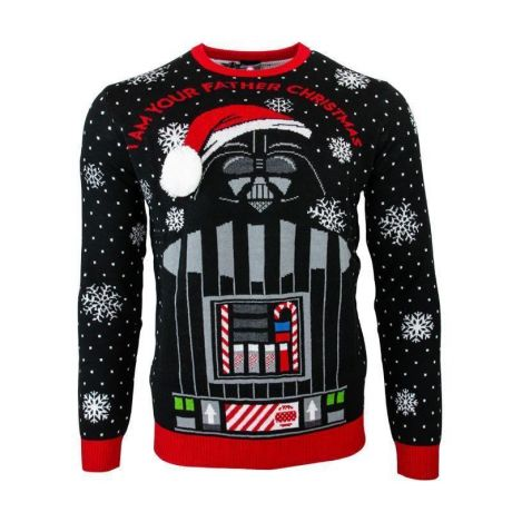 Star Wars 'I Am Your Father' Darth Vader Christmas Jumper / Ugly Sweater UK XL / US L