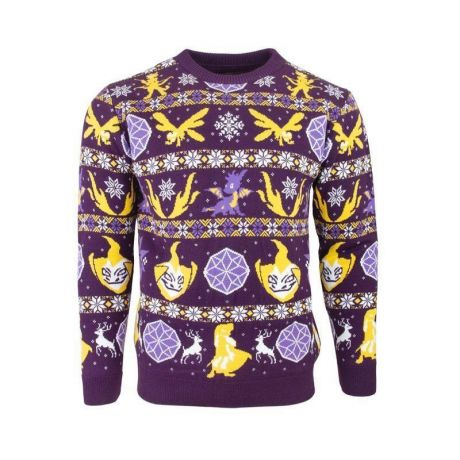 Spyro the Dragon Fairisle Christmas Jumper / Ugly Sweater UK L / US M