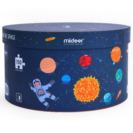 Mideer 150 Piece - Solar System Round Jigsaw Puzzle