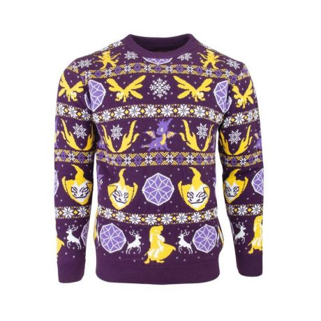 Spyro the Dragon Fairisle Christmas Jumper / Ugly Sweater UK XS / US 2XS