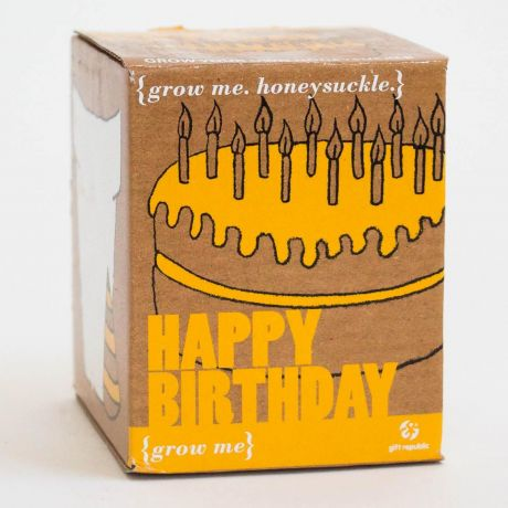 Grow Me - Happy Birthday Honeysuckle Planting Starter Set