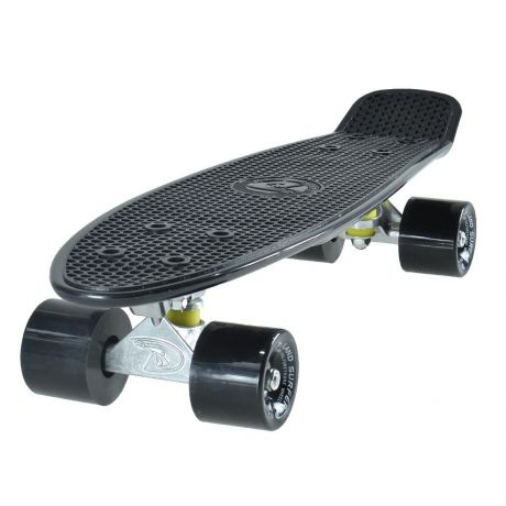Land Surfer Cruiser Skateboard - Black Board - Solid Black Wheels