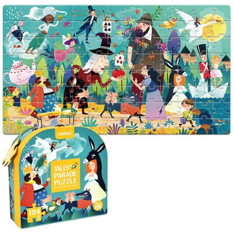 Mideer 104 Piece Jigsaw Puzzle Gift Box - Fairy Tale Travel Case