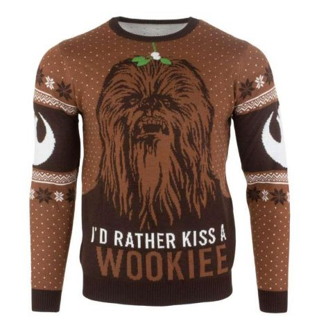 Star Wars 'Kiss a Wookie' Christmas Jumper / Ugly Sweater UK S / US XS