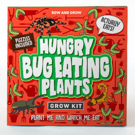 Sow and Grow - Hungry Bug Eating Plants Planting Starter Set