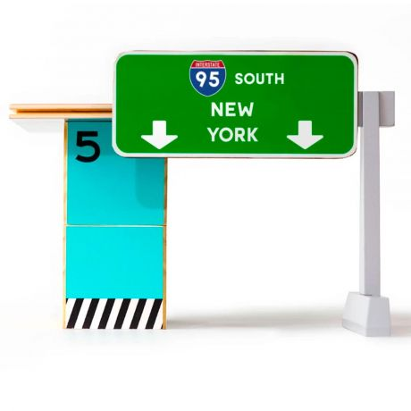 Candylab – Wooden Toy Highway 93 Toll Booth Blue