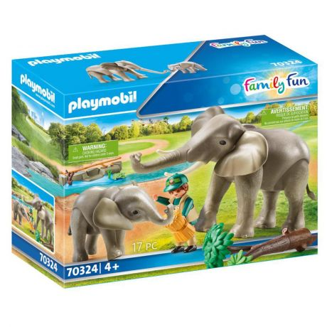 Playmobil Zoo Animal Elephant Habitat - Family Fun 70324