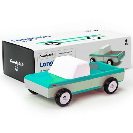 Candylab – Wooden Toy Longhorn Teal Pick Up Truck Vehicle