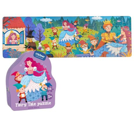 Mideer 36 Piece Kid's Jigsaw Puzzle - Princess Snow White Fairy Tale