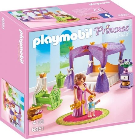 Playmobil 6851 Princess - Chamber with Cradle box