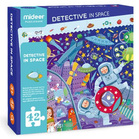Mideer 42 Piece Jigsaw Puzzle - Detective in Space
