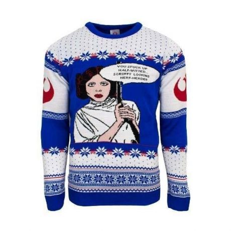 Star Wars Princess Leia Christmas Jumper / Ugly Sweater - UK XL / US L