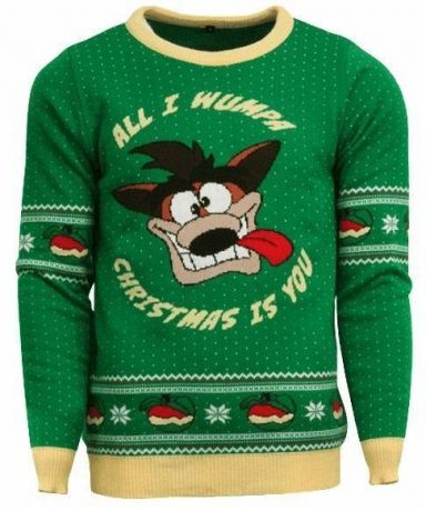 Official Crash Bandicoot Christmas Jumper / Ugly Sweater - UK S / US XS