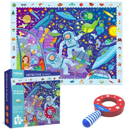 Mideer 42 Piece Kid's Jigsaw Puzzle - Astronaut Detectives in Space