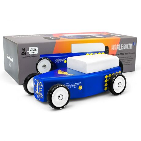 Candylab Outlaw – Harlequin Low Ride Roadster Blue and Gold - with box