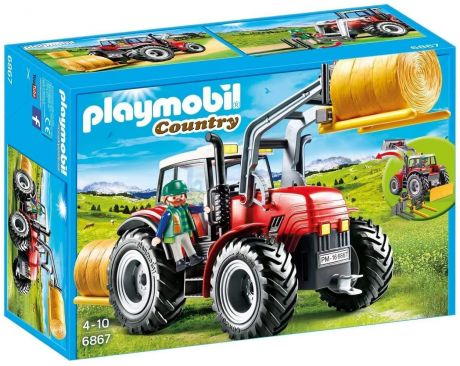 Playmobil 6867 Country - Large Tractor with Interchangeable Attachments
