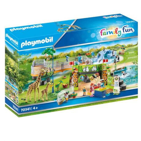 Playmobil Large Zoo 213 Piece with Animals Bike and Shop - Family Fun 70341