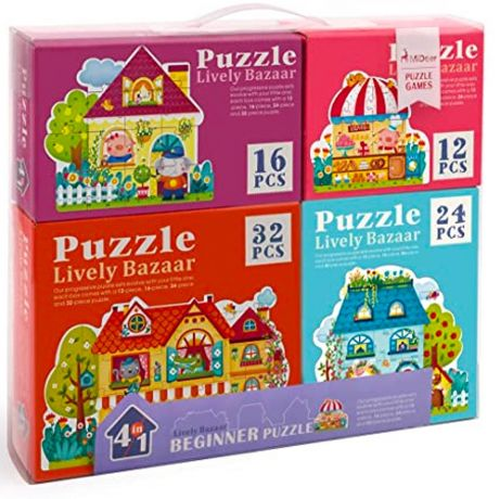 Mideer Jigsaw Puzzle 4 in 1 Pack - Lively Bazaar