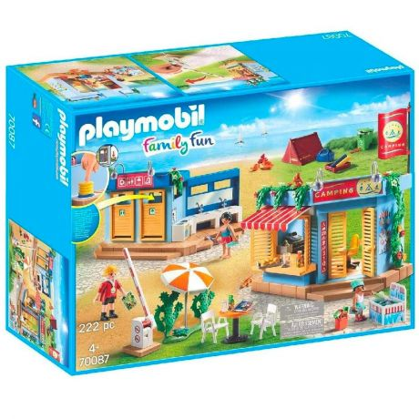 Playmobil 70087 Family Fun - Large Campsite with Working Shower