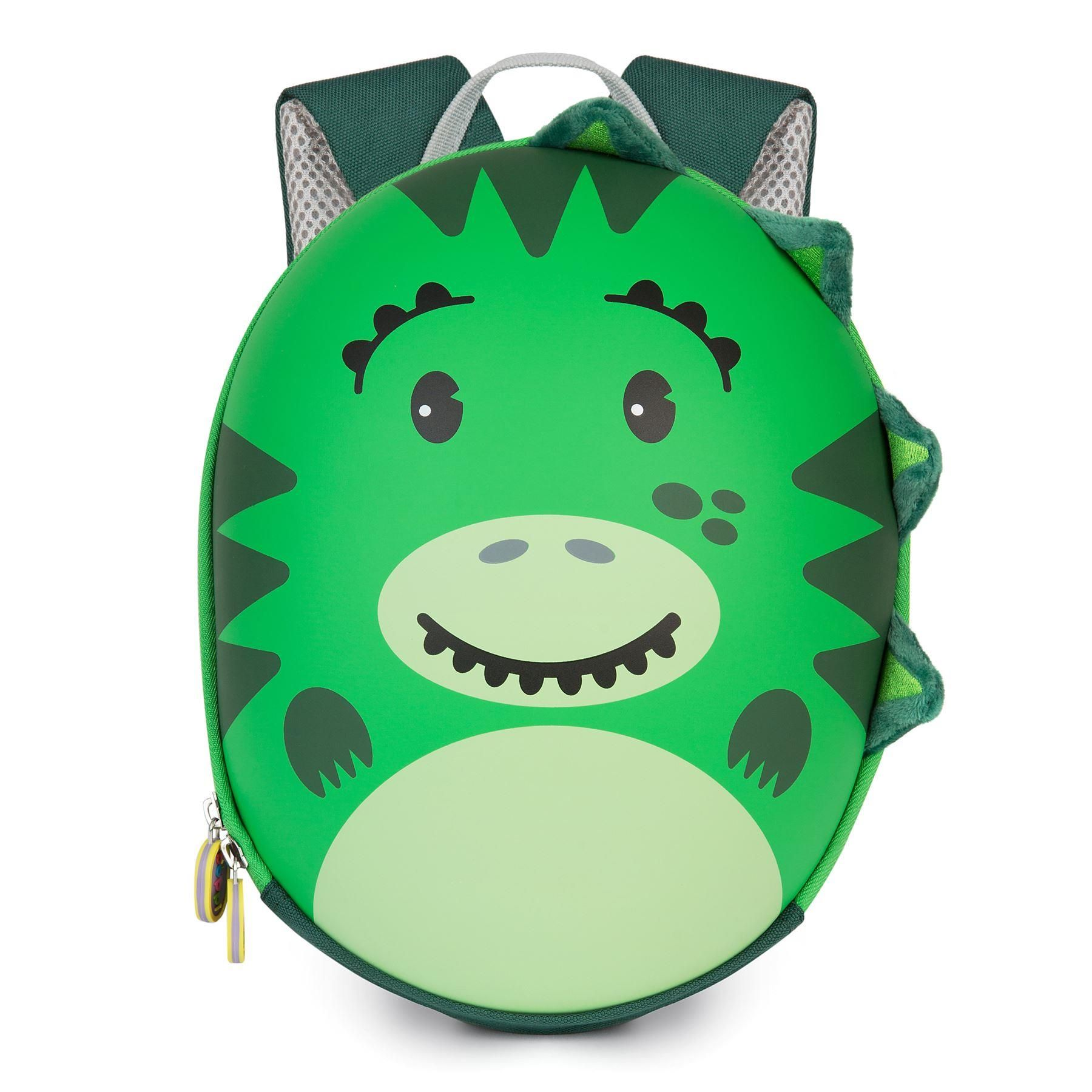 boppi Tiny Trekker Backpack Dinosaur Green