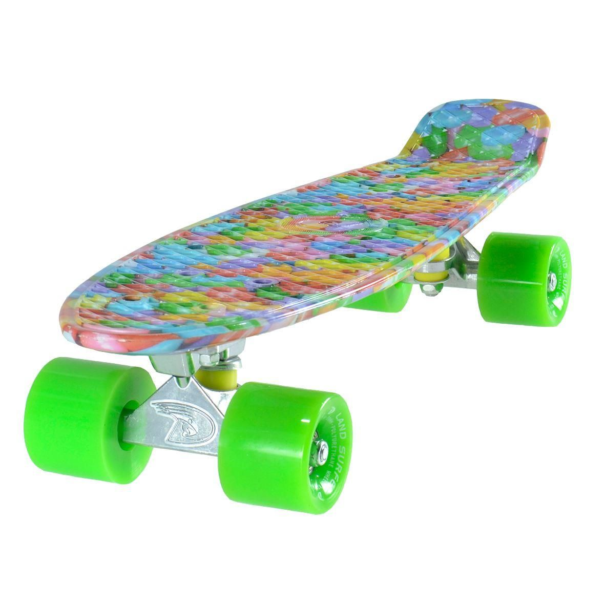 Land Surfer Cruiser Candy Skateboard Green Wheels