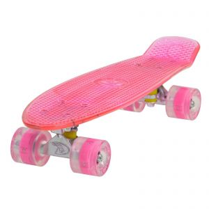 Land Surfer Cruiser Pink Skateboard LED Pink Wheels