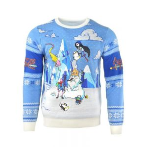 Adventure Time Festive Winter Christmas Jumper / Ugly Sweater - UK: M / US: S