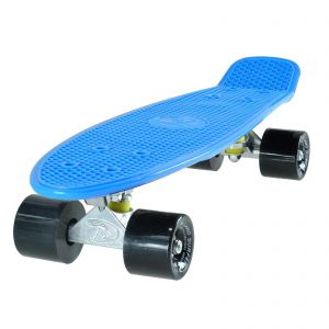 Land Surfer Cruiser Skateboard - Blue Board - Solid Black Wheels