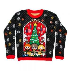 Harry Potter Great Hall Kids Christmas Jumper / Ugly Sweater - Kids UK Age 11-12
